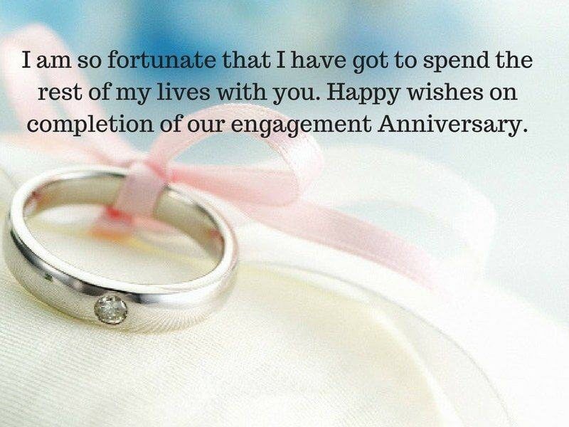 Happy 1st Engagement Anniversary Wishes Message