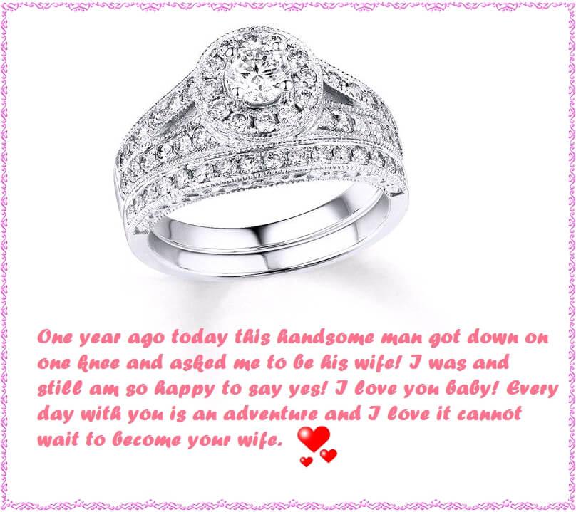 Happy 1st Engagement Anniversary Wishes Status