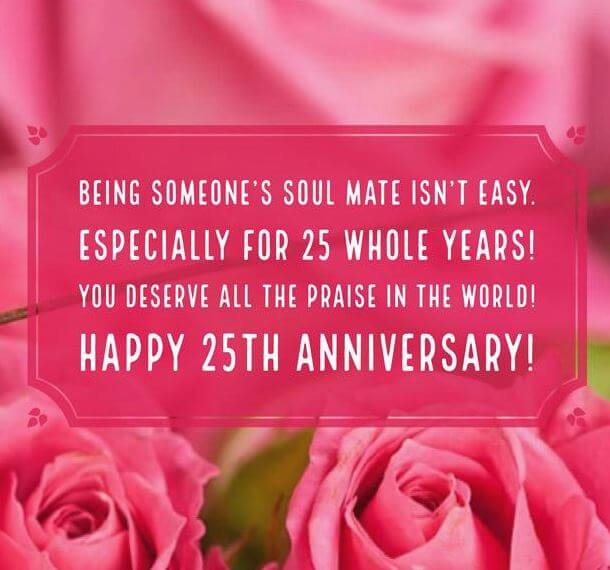 Happy 25th Anniversary Wishes Rose