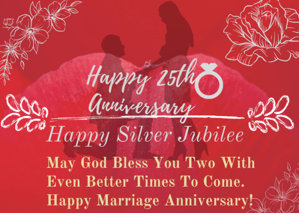 Happy 25th Anniversary Wishes Silver Jubilee