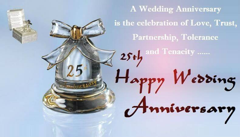 Happy 25th Anniversary Wishes Wedding