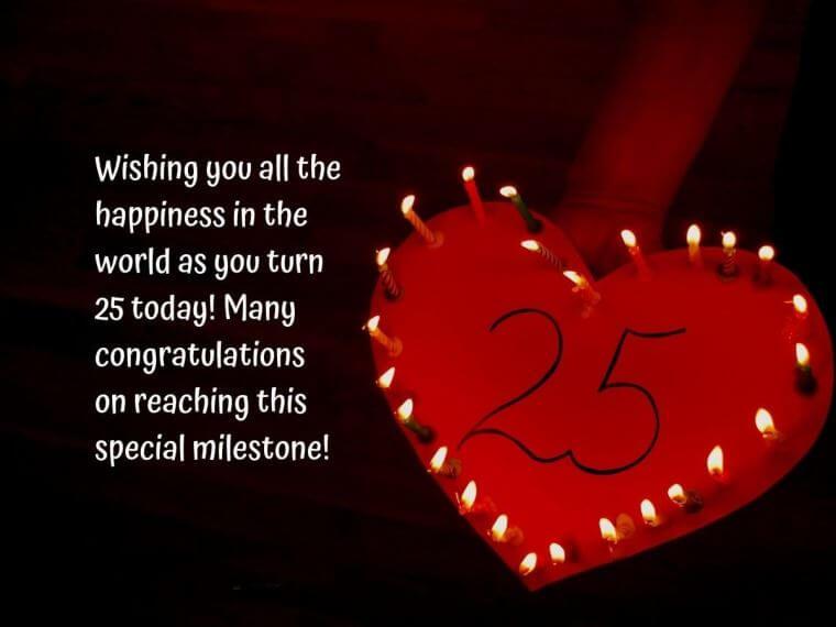 Happy 25th Birthday Wishes Cake