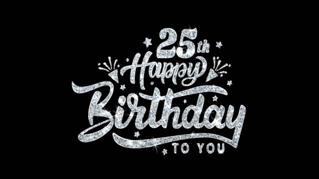Happy 25th Birthday Wishes Greeting Card