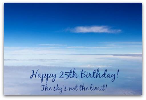 Happy 25th Birthday Wishes Sky