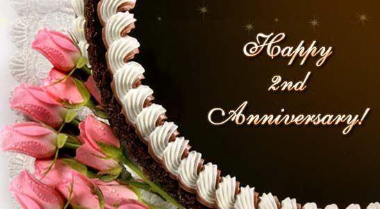 Happy 2nd Anniversary Wishes Cake