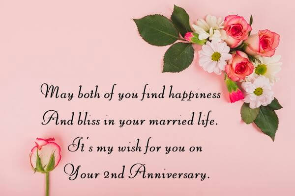 Happy 2nd Anniversary Wishes Greeting Card