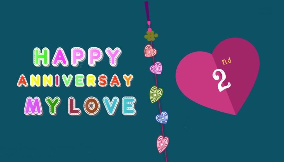 Happy 2nd Anniversary Wishes Status