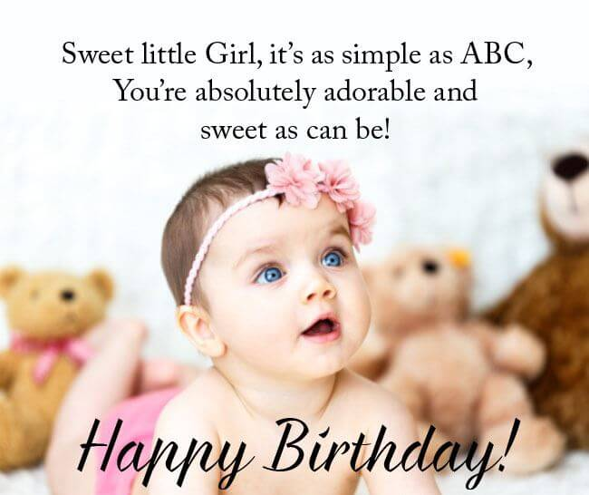 Happy 2nd Birthday Wishes for Baby Girl Adorable