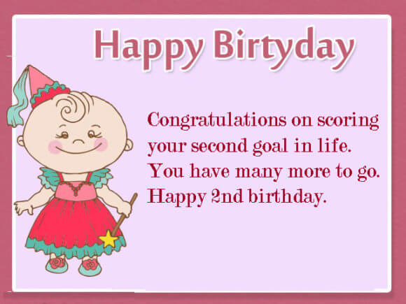 Happy 2nd Birthday Wishes for Baby Girl Greetings
