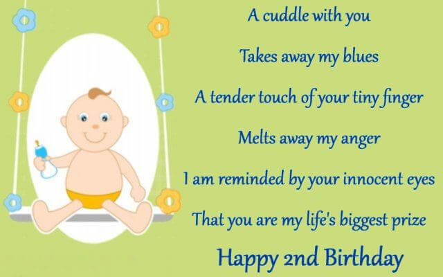 Happy 2nd Birthday Wishes for Baby Girl Images