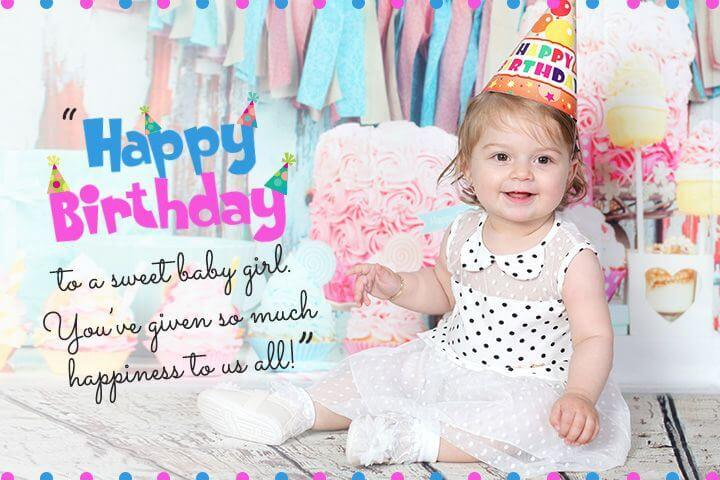 Happy 2nd Birthday Wishes for Baby Girl Status