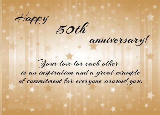 Happy 50th Anniversary Wishes Message