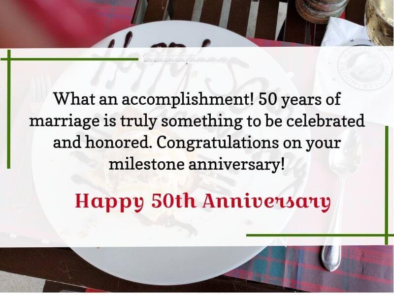 Happy 50th Anniversary Wishes Romantic