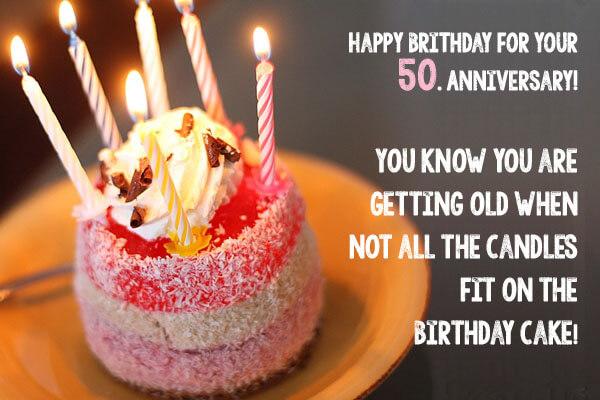 Happy 50th Birthday Wishes Cake