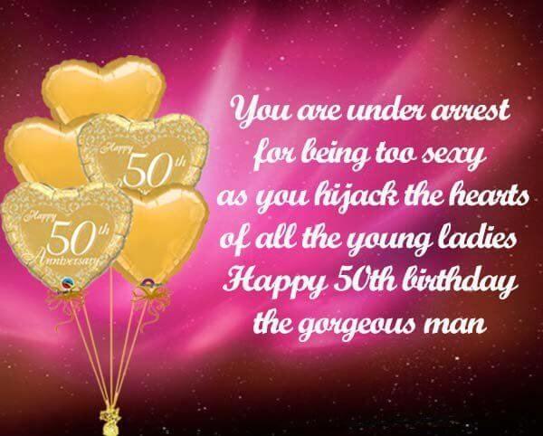 Happy 50th Birthday Wishes Heart