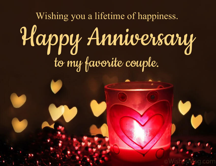 Happy Anniversary Wishes for Friend Candle