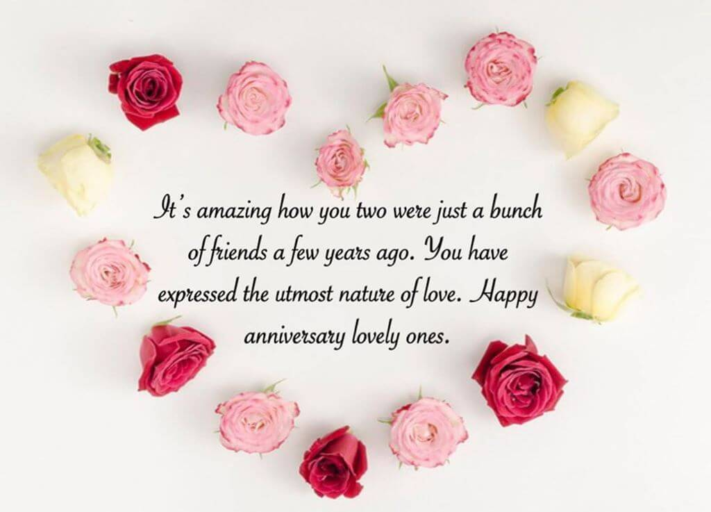 Happy Anniversary Wishes for Friend Flowers