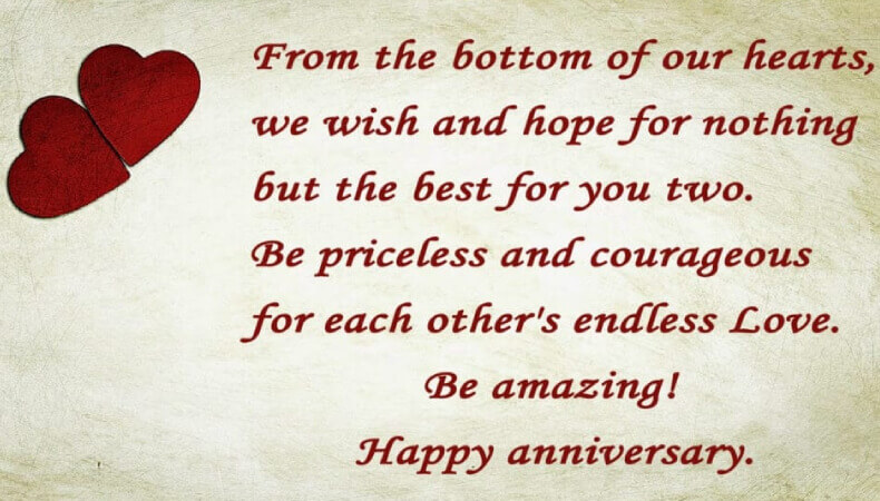 Happy Anniversary Wishes for Friend Quote