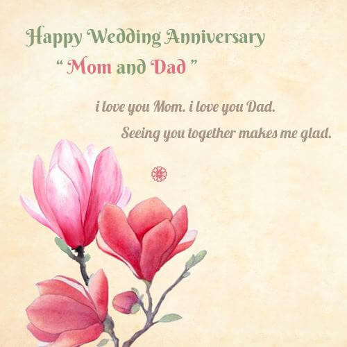 Happy Anniversary Wishes for Parents Mom & Dad