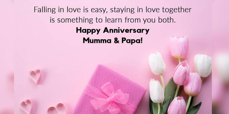 Happy Anniversary Wishes for Parents Mumma & Papa