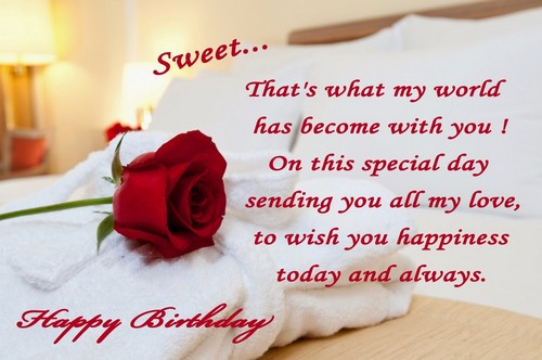 Happy Birthday Wishes for Someone Special Rose
