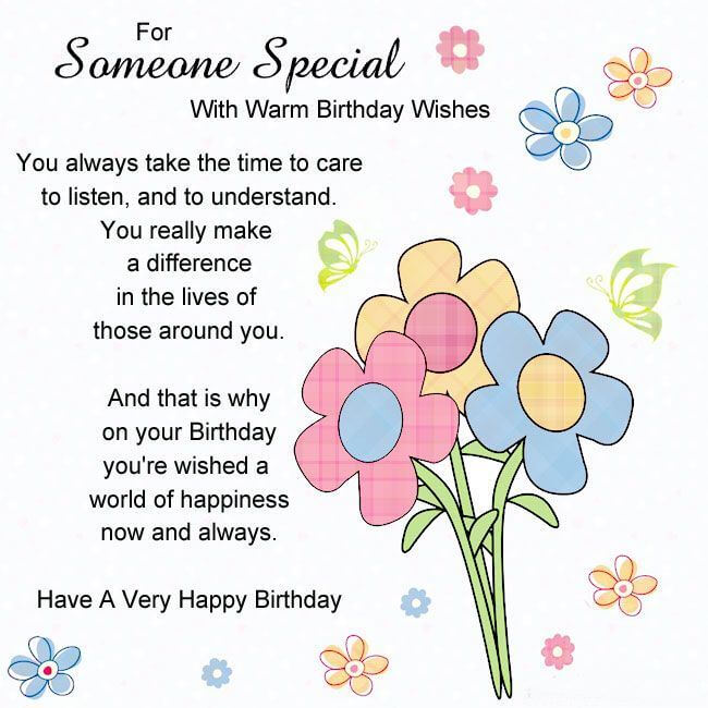 Happy Birthday Wishes for Someone Special Status