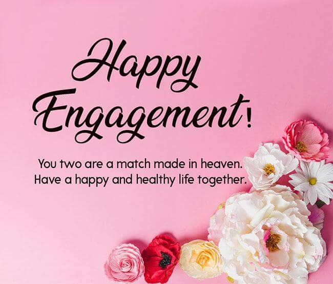 Happy Engagement Wishes Flowers