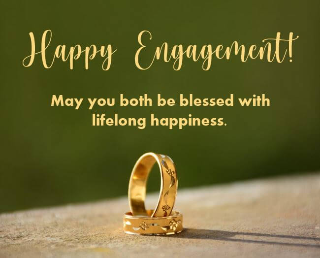 Happy Engagement Wishes Greeting Card