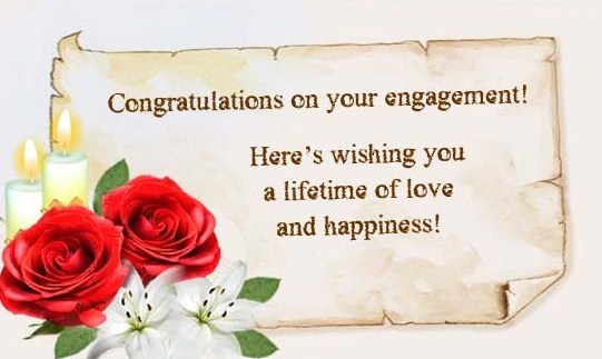 Happy Engagement Wishes Red Rose